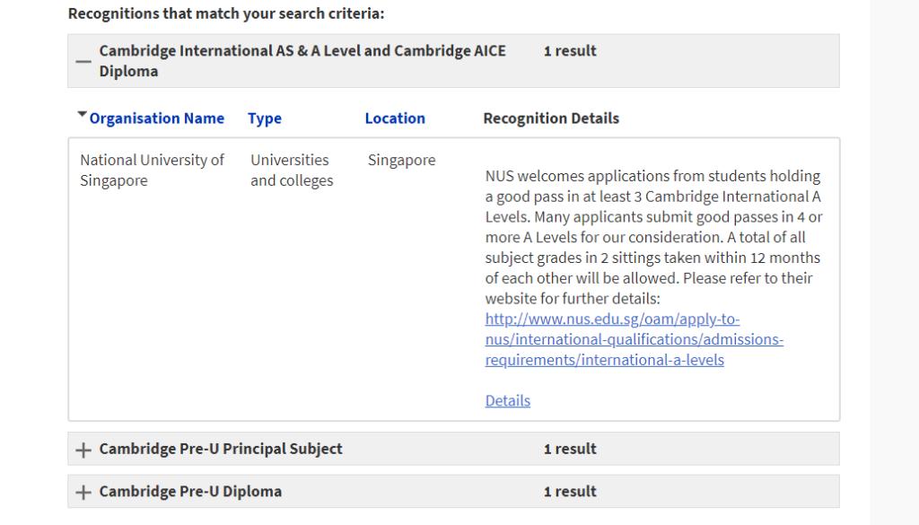 Cambridge University Search Database